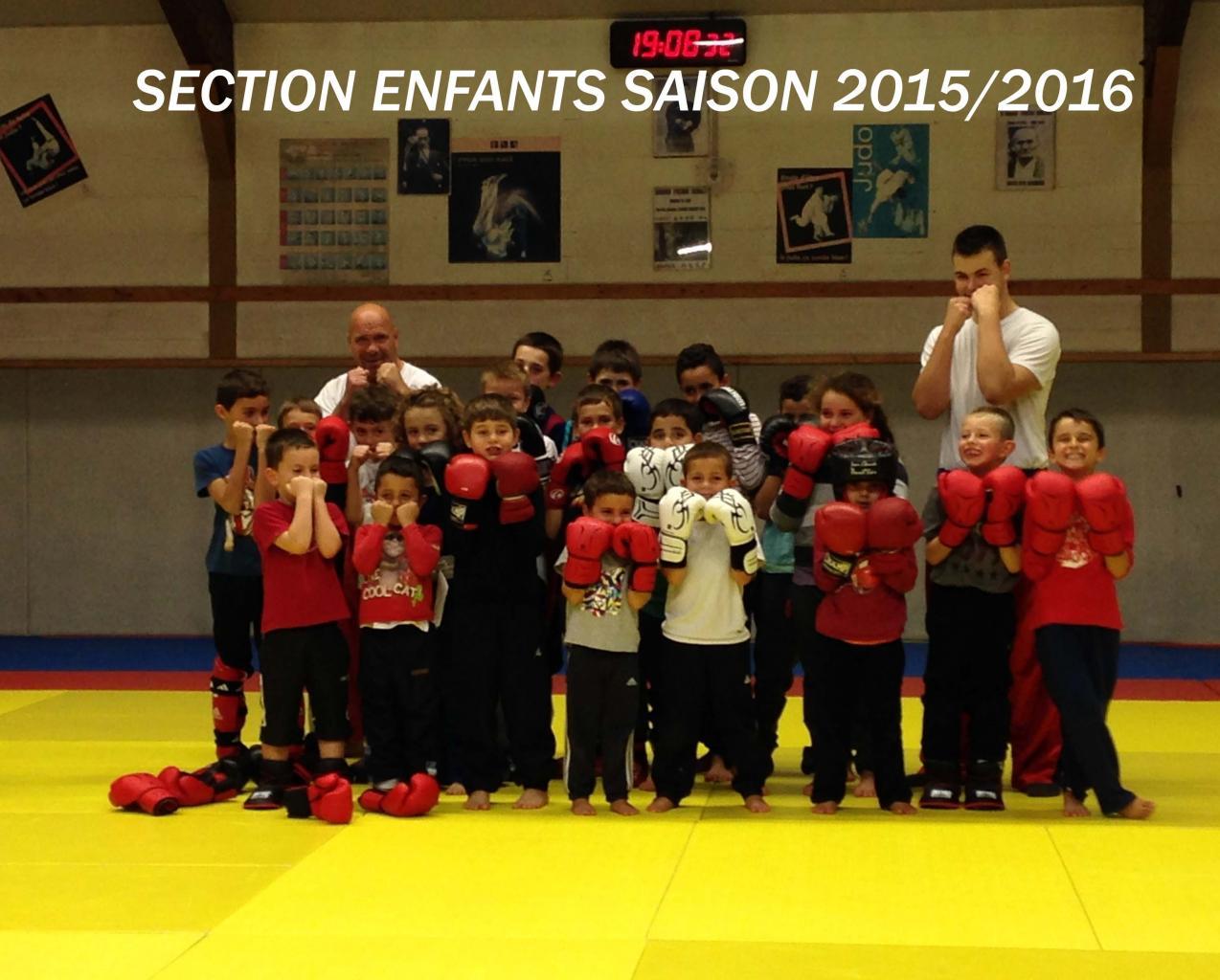 SECTION ENFANTS SAISON 2015-2016